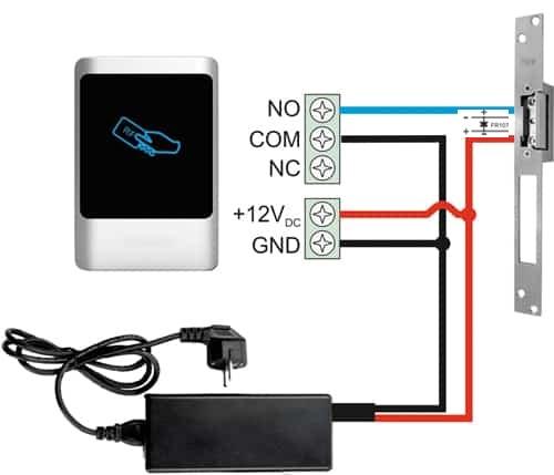 اموزش نصب اکسس کنترل به قفل برقی