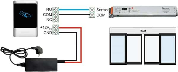 روش نصب اکسس کنترل روی درب اتوماتیک