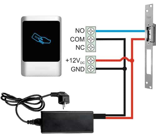 نصب اکسس کنترل روی قفل برقی