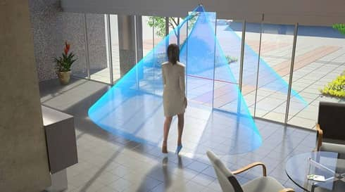 رادار درب شیشه ای التراسونیک